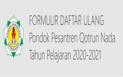 Update Isian Form Daftar Ulang 2020-2021